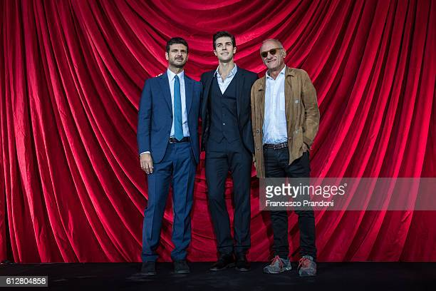 Andrea Fabiano Roberto Bolle and Giampiero Solari attend a photocall La Mia danza Libera for Andrea Fabiano and 'Roberto Bolle The King Of The Dance'...