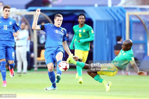 Andrea Favilli of Italy in action during the FIFA U20 World Cup Korea Republic 2017 group D match between South Africa and Italy at Suwon World Cup...