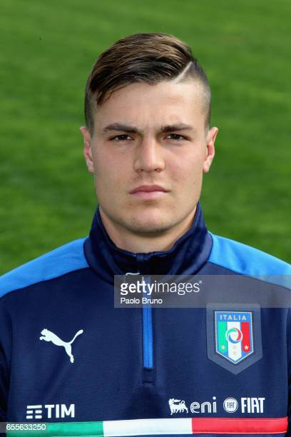 Andrea Favilli of Italy poses during the Italy U21 training session on March 20 2017 in Rome Italy