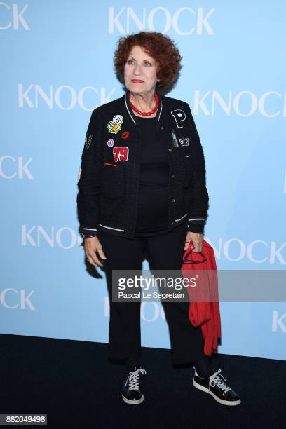 Andrea Ferreol attends 'Knock' Premiere at Cinema UGC Normandie on October 16 2017 in Paris France