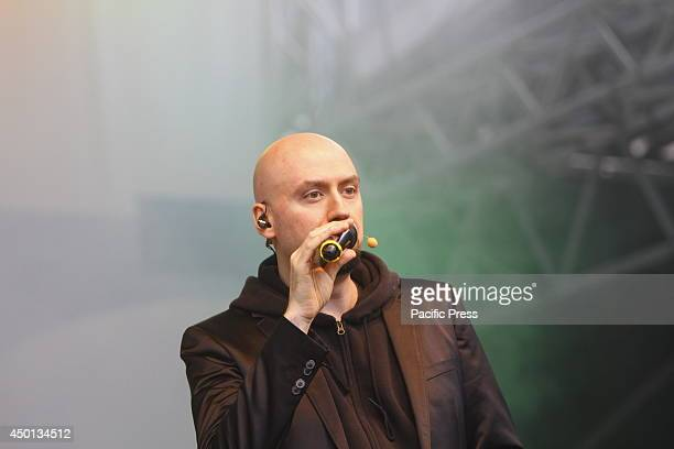 REGENSBURG BAVARIA GERMANY Andrea Figallo from the Wise Guys performs live at the 99th Deutscher Katholikentag The a cappella group from Cologne the...