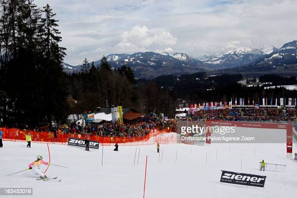 Andrea Filser of Germany competes during the Audi FIS Alpine Ski World Cup Women's Slalom on March 10 2013 in Ofterschwang Germany