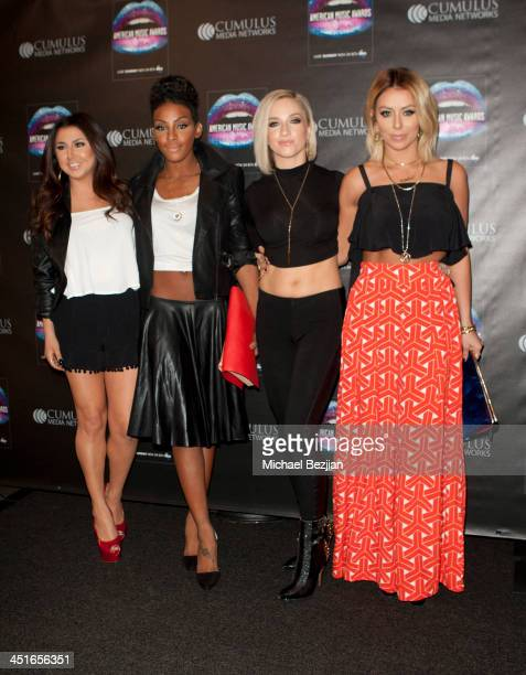 Andrea Fimbres Dawn Richards Shannon Bex and Aubrey O'Day of Danity Kane attend Flips Audio Headphones Sponsors the Official Artist Gift Lounge...