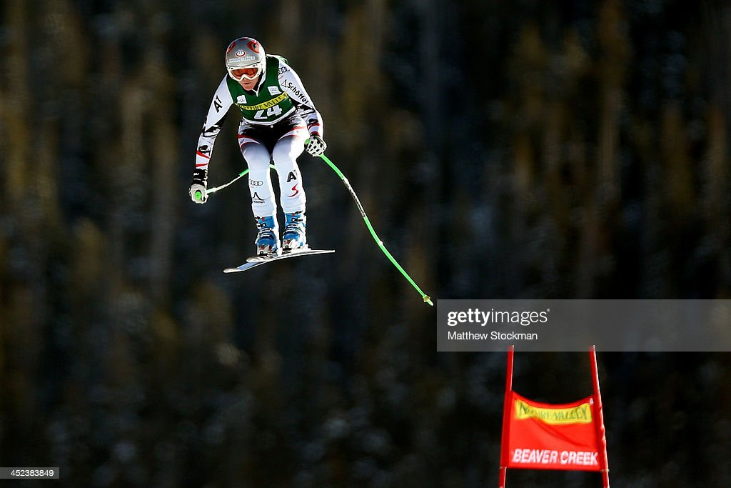 <a gi-track='captionPersonalityLinkClicked' href=/galleries/search?phrase=Andrea+Fischbacher&family=editorial&specificpeople=800274 ng-click='$event.stopPropagation()'>Andrea Fischbacher</a> #24 of Austria clears the Red Tail jump during day 3 of ladies' downhill training on Raptor for the Audi 2013 FIS Beaver Creek World Cup on November 28, 2013 in Beaver Creek, Colorado.