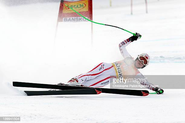 Andrea Fischbacher of Austria competes during the Audi FIS Alpine Ski World Cup Women's SuperG on February 26 2012 in Bansko Bulgaria