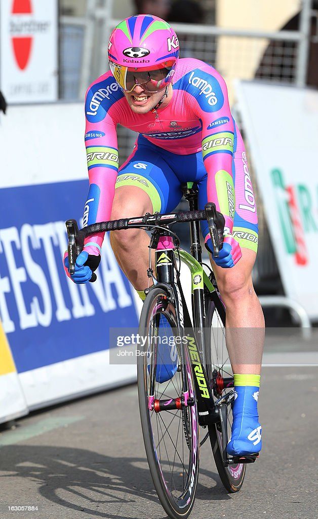 Andrea Francesco Palini of Italy and Team Lampre-Merida rides during the prologue of 2.9 km of the 2013 Paris-Nice on March 3, 2013 in Houilles, Yvelines, France.