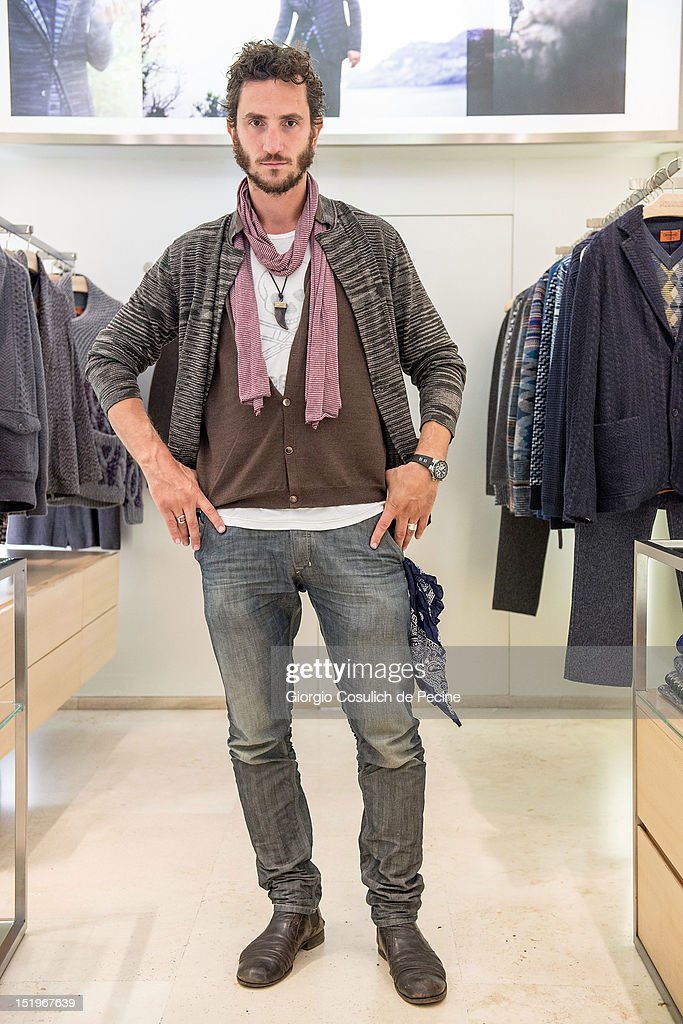 Andrea Gherpelli poses during Rome Vogue Fashion's Night Out at Missoni shop on September 13, 2012 in Rome, Italy.