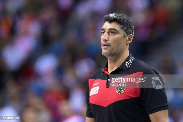 Andrea Giani of Germany during the European Men's Volleyball Championships 2017 semifinal match between Serbia and Germany on August 2 2017 in Krakow...