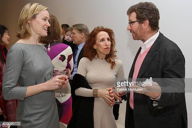 Andrea Glimcher Prudence Fairweather and Marc Glimcher attend Opening Reception of John Chamberlain Recent Work at PaceWildenstein on February 13...