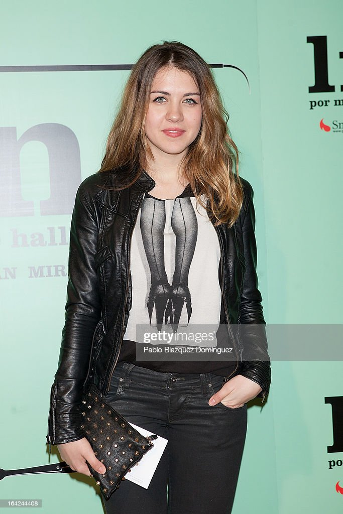 Andrea Guasch attends the 'Lifting' premiere at Infanta Isabel Theatre on March 21, 2013 in Madrid, Spain.