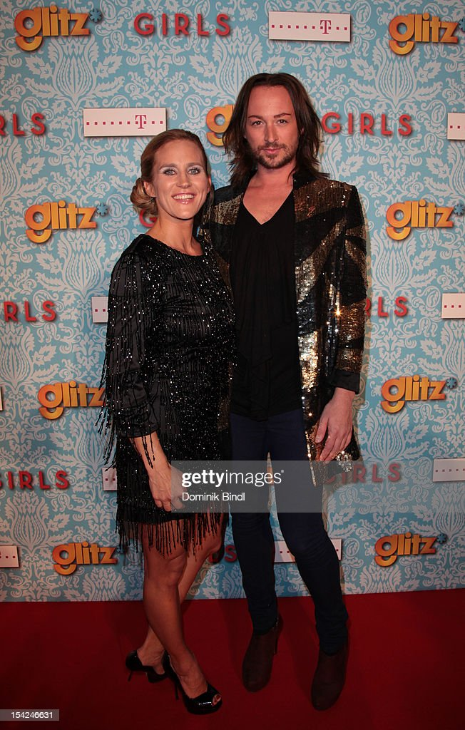 Andrea Guenther and Marcel Ostertag attend 'Girls' preview event of TV channel glitz* at Hotel Bayerischer Hof on October 16, 2012 in Munich, Germany. The series premieres on October 17, 2012 (every Wednesday at 9:10 pm on glitz*).