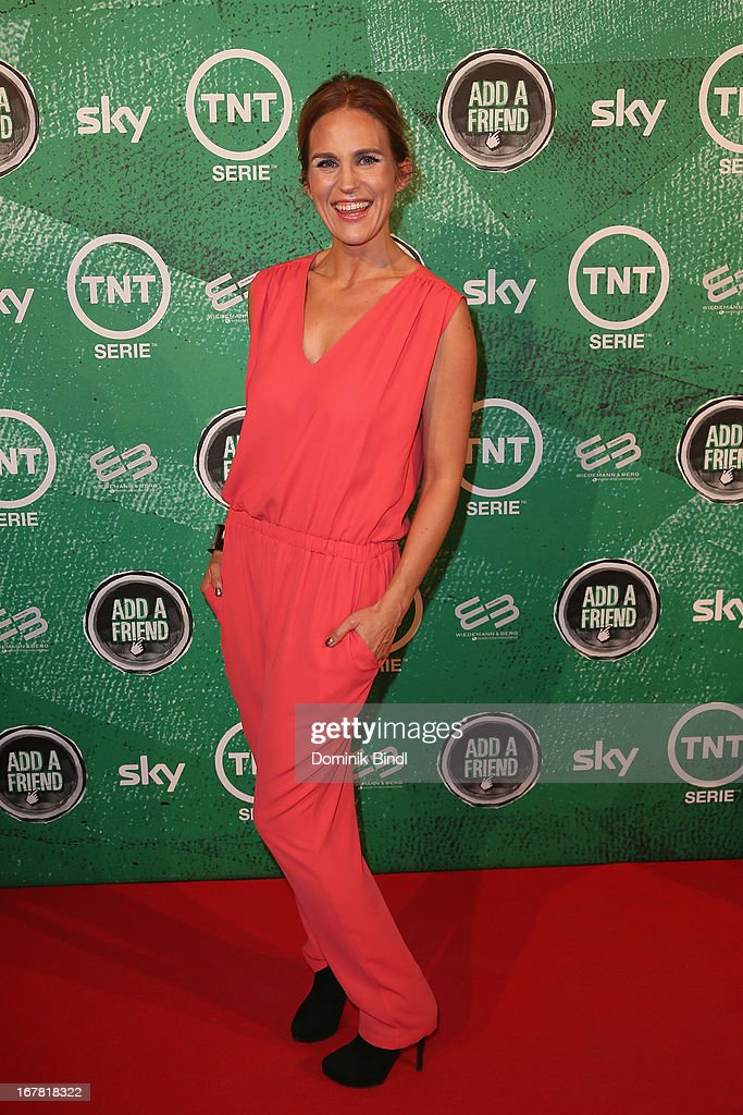 Andrea Guenther attends 'Add a Friend' Preview Event of TNT Serie at Bayerischer Hof on April 30, 2013 in Munich, Germany. The second season series premieres on May 6 (every Monday at 8:15 pm on TNT Serie).