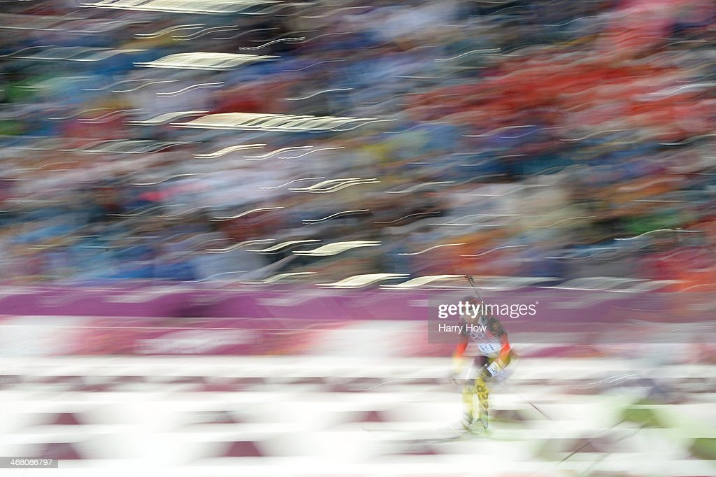 <a gi-track='captionPersonalityLinkClicked' href=/galleries/search?phrase=Andrea+Henkel&family=editorial&specificpeople=233764 ng-click='$event.stopPropagation()'>Andrea Henkel</a> of Germany competes in the Women's 7.5 km Sprint during day two of the Sochi 2014 Winter Olympics at Laura Cross-country Ski & Biathlon Center on February 9, 2014 in Sochi, Russia.