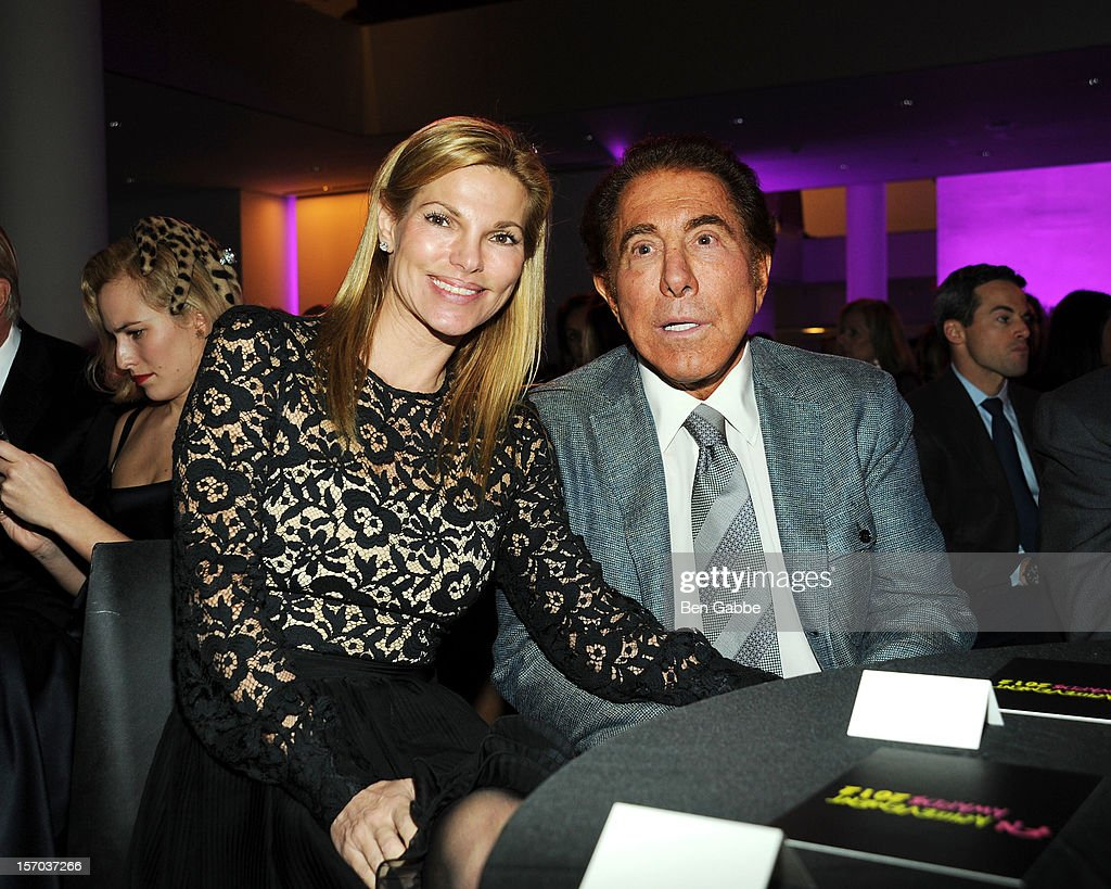 Andrea Hissom and <a gi-track='captionPersonalityLinkClicked' href=/galleries/search?phrase=Steve+Wynn&family=editorial&specificpeople=696427 ng-click='$event.stopPropagation()'>Steve Wynn</a> attend 2012 Footwear News Achievement Awards at MOMA on November 27, 2012 in New York City.