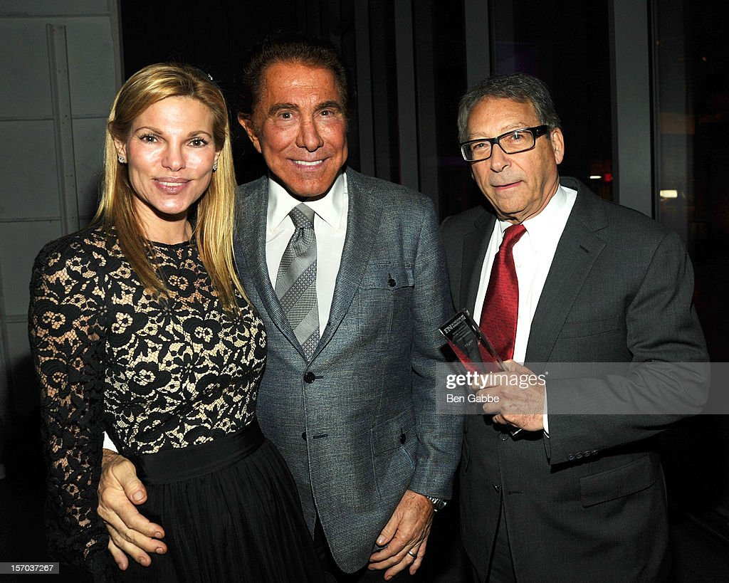 Andrea Hissom, <a gi-track='captionPersonalityLinkClicked' href=/galleries/search?phrase=Steve+Wynn&family=editorial&specificpeople=696427 ng-click='$event.stopPropagation()'>Steve Wynn</a> and Stuart Weitzman attend 2012 Footwear News Achievement Awards at MOMA on November 27, 2012 in New York City.