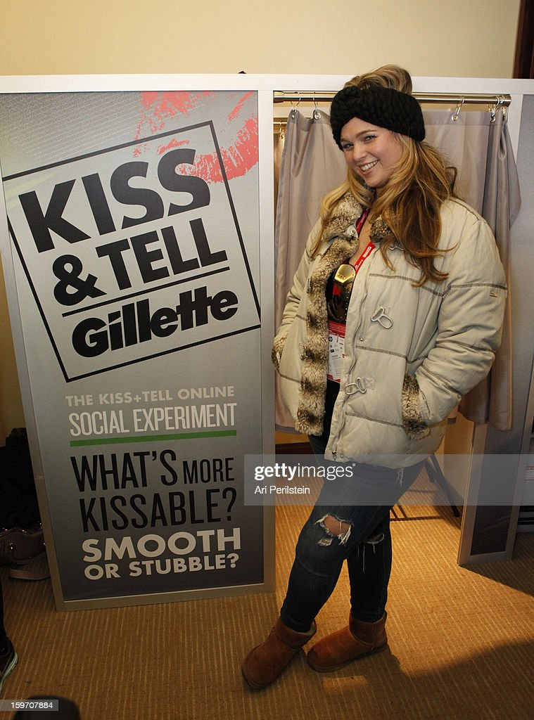 Andrea Horblitt attends Day 1 of Gillette Ask Couples at Sundance to 'Kiss & Tell' if They Prefer Stubble or Smooth Shaven on January 18, 2013 in Park City, Utah.