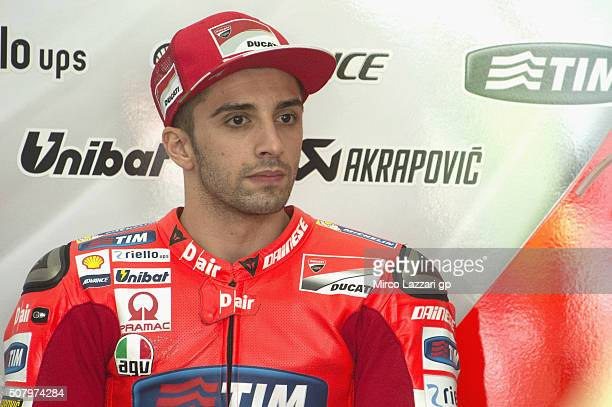 Andrea Iannone of Italy and Ducati Team looks on in box during the MotoGP Tests In Sepang at Sepang Circuit on February 2 2016 in Kuala Lumpur...