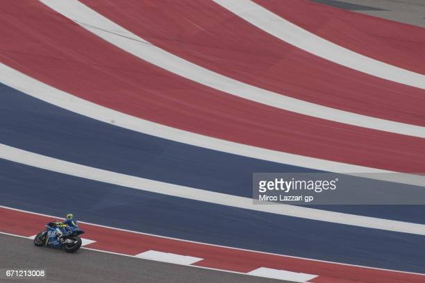 Andrea Iannone of Italy and Team Suzuki ECSTAR rounds the bend during the MotoGp Red Bull US Grand Prix of The Americas Free Practice at Circuit of...