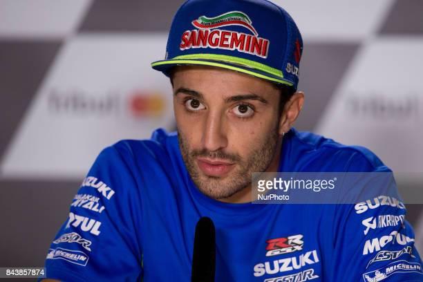 Andrea Iannone of Team SUZUKI ECSTAR during the presentation press conference of the Tribul Mastercard Grand Prix of San Marino and Riviera di Rimini...