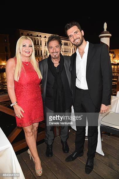 Andrea Iervolino Al Pacino and Monika Bacardi attend the Exclusive Dinner hosted by Andrea Iervolino and Monika Bacardi during the 71st Venice Film...