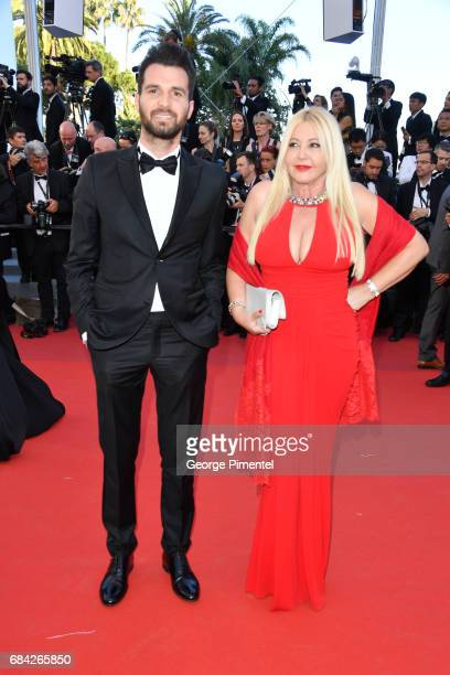 Andrea Iervolino and Lady Monika Bacardi attend the 'Ismael's Ghosts ' screening and Opening Gala during the 70th annual Cannes Film Festival at...
