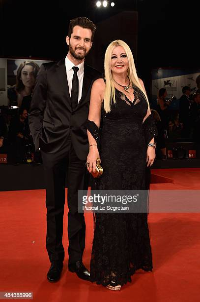 Andrea Iervolino and Monika Bacardi attend 'The Humbling' premiere during the 71st Venice Film Festival on August 30 2014 in Venice Italy