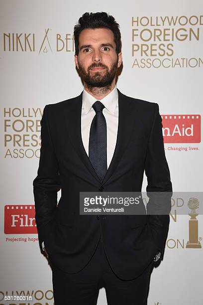 Andrea Iervolino attends The Hollywood Foreign Press Association Honour Filmaid International party during The 69th Annual Cannes Film Festival on...