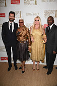 Andrea Iervolino Dionne Warwick Monika Bacardi and guest attend The Hollywood Foreign Press Association Honour Filmaid International party during The...