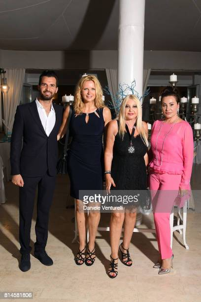 Andrea Iervolino Veronica Ferres Lady Monika Bacardi and Darina Padlova attend AMBI Media Group Dinner in honor for Lily Collins during the 2017...