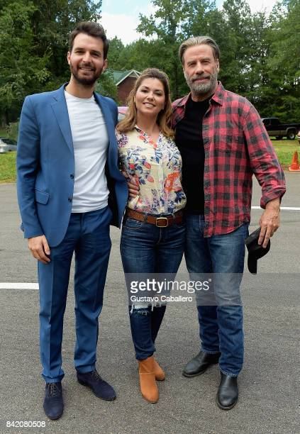Andrea IervolinoShania Twain and John Travolta is on The Set Of The Movie 'Trading Paint' on September 1 2017