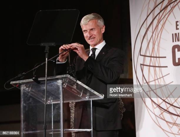 Andrea Illy Chairman of illycaff at the Ernesto Illy International Coffee Award gala at the New York Public Library on Monday October 16 2017 the...