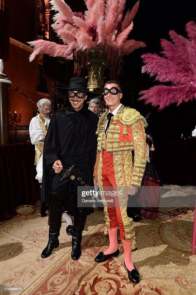 Andrea Incostri and Stefano Gabbana attend the 'Ballo in Maschera' to Celebrate Dolce&Gabbana Alta Moda at Palazzo Pisani Moretta on July 6, 2013 in Venice, Italy.