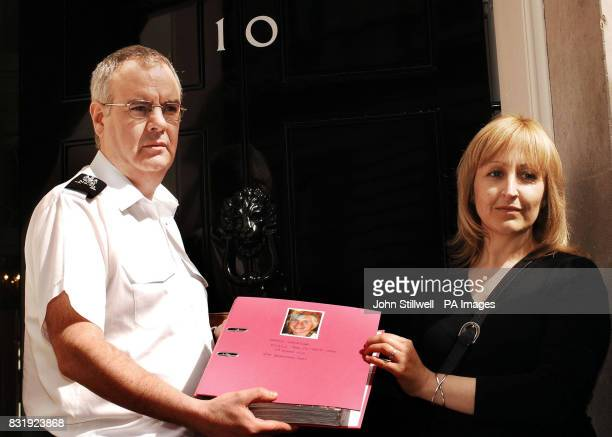 Andrea Jackson hands in a 10000 signature petition about road safety to No10 Downing Street after her son David was killed in Norfolk last year...