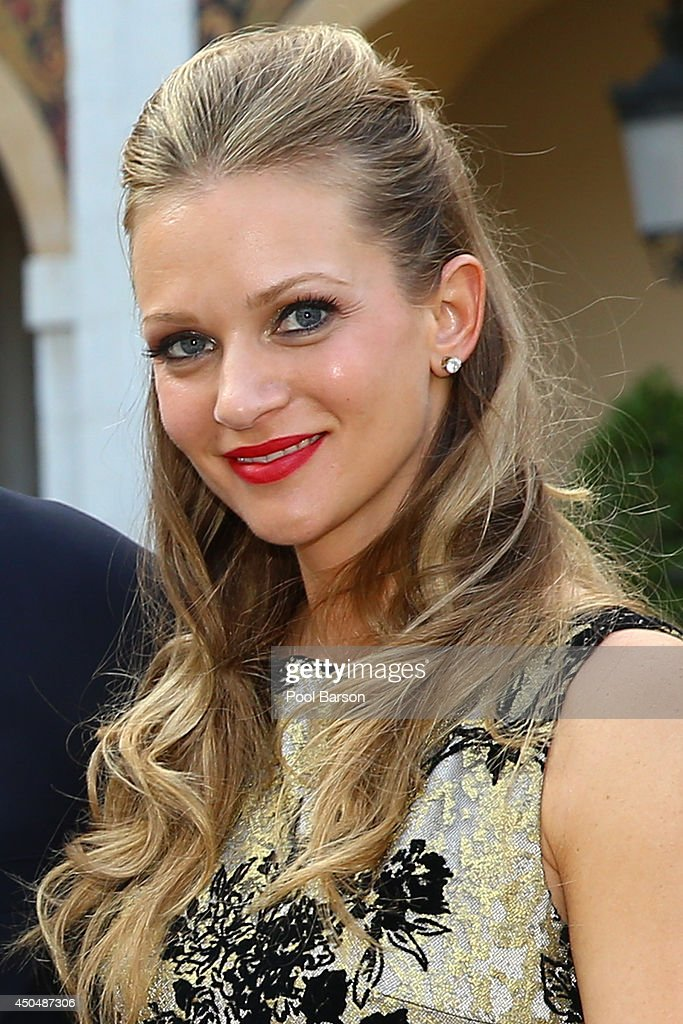Andrea Joy Cook aka <a gi-track='captionPersonalityLinkClicked' href=/galleries/search?phrase=A.J.+Cook&family=editorial&specificpeople=4246818 ng-click='$event.stopPropagation()'>A.J. Cook</a> attends a Cocktail Reception at Monaco Palace on June 9, 2014 in Monte-Carlo, Monaco.