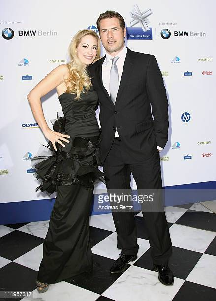 Andrea Kaiser and Lars Ricken arrive for the Felix Burda Award Gala 2011 at Hotel Adlon on April 10 2011 in Berlin Germany