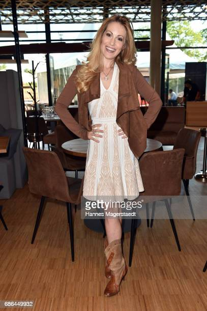 Andrea Kaiser attends the Pre Golf Party during the 9th Golf Charity Cup hosted by the Christoph Metzelder Foundation at the Jochen Schweizer Arena...
