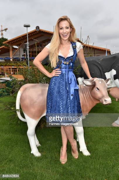 Andrea Kaiser during the ProSieben Sat1 Wiesn as part of the Oktoberfest 2017 at Kaefer Tent on September 17 2017 in Munich Germany