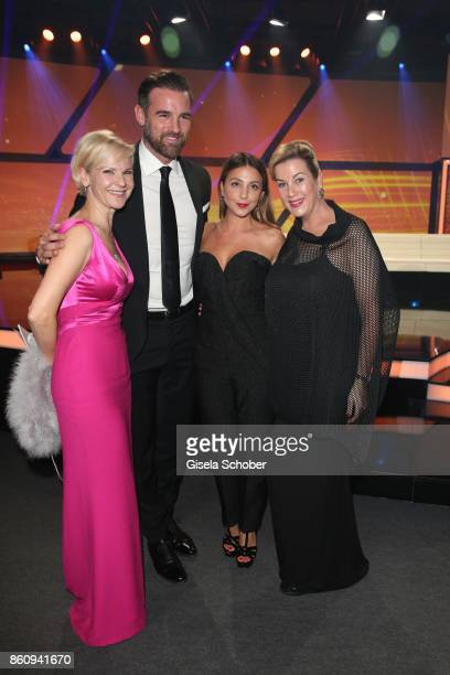 Andrea Kathrin Loewig Christoph Metzelder Arzu Bazmann Alexa Maria Surholt during the 'Tribute To Bambi' gala at Station on October 5 2017 in Berlin...