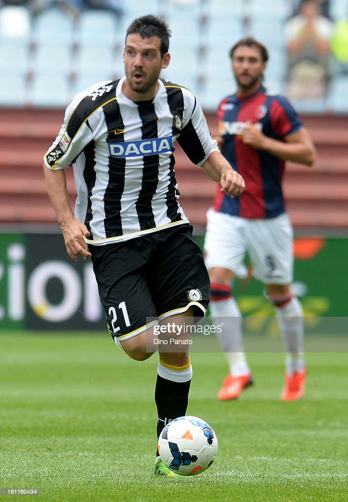 Andrea Lazzari of Udinese Calcio in action during the Serie A match between Udinese Calcio and Bologna FC at Stadio Friuli on September 15, 2013 in Udine, Italy.