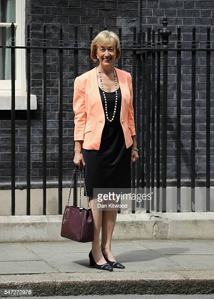 Andrea Leadsom leaves 10 Downing Street where she was appointed as Environment Secretary as Prime Minister Theresa May continues to appoint her...