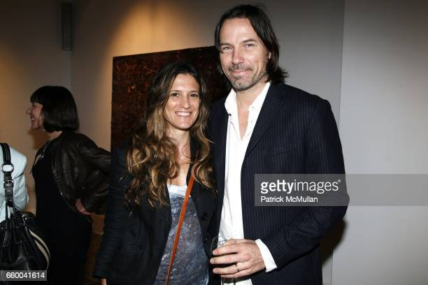 Andrea LinetteWaring and Michael Waring attend ANDREW LEVITAS works on canvas and steel curated by NEIL GRAYSON at Dactyl Gallery on May 9 2009 in...