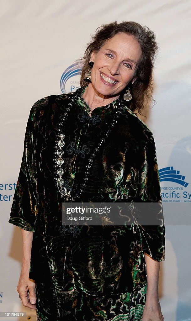 <a gi-track='captionPersonalityLinkClicked' href=/galleries/search?phrase=Andrea+Marcovicci&family=editorial&specificpeople=1182556 ng-click='$event.stopPropagation()'>Andrea Marcovicci</a> arrives for the Kenny G performance with the Pacific Symphony 2013 Pops Series at Segerstrom Center For The Arts on February 15, 2013 in Costa Mesa, California.