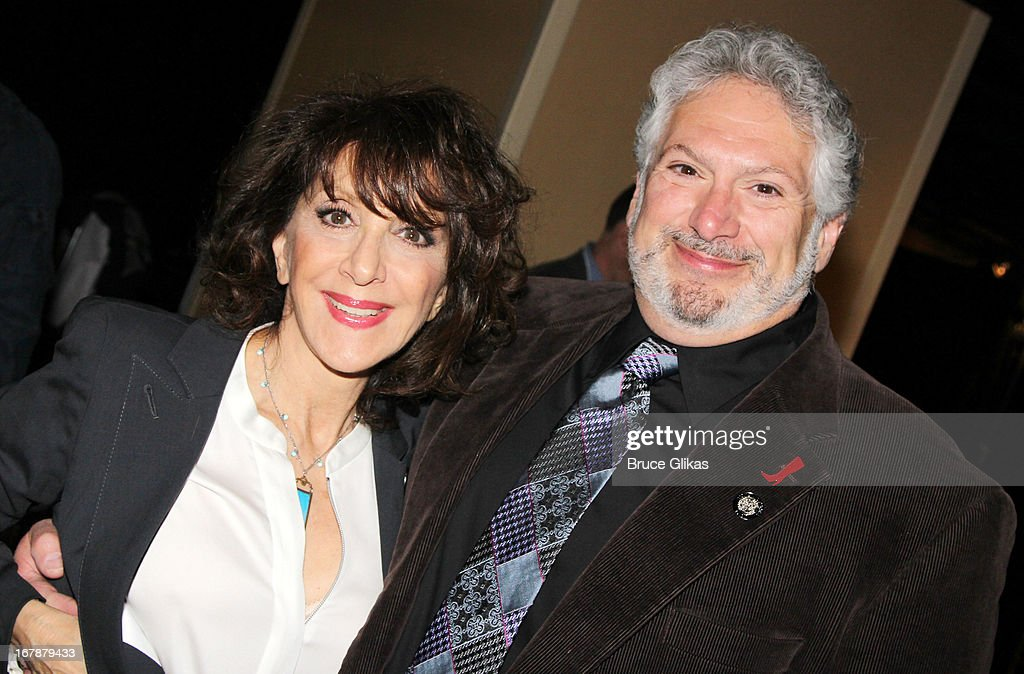 Andrea Martin and Harvey Fierstein attend the 2013 Tony Awards: The Meet The Nominees Press Junket at the Millenium Hilton on May 1, 2013 in New York City.
