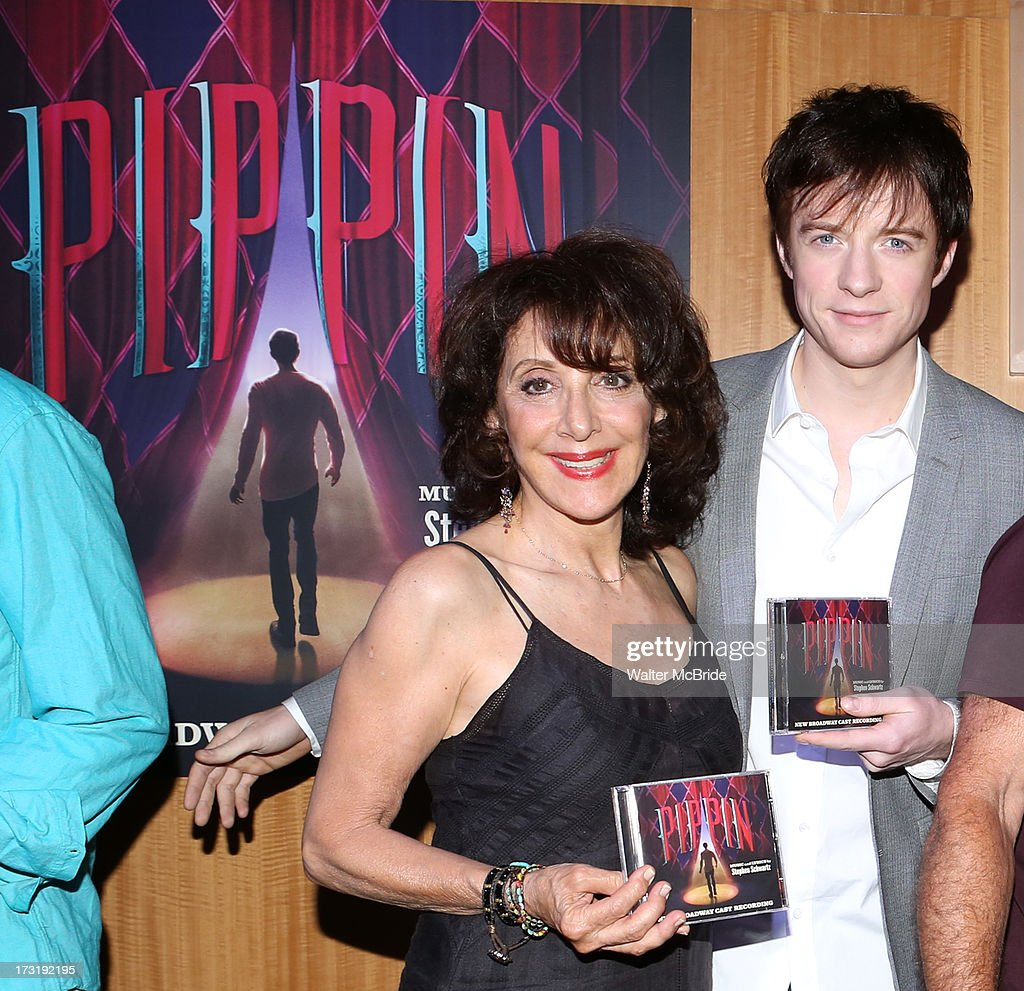 Andrea Martin and Matthew James Thomas attend the Broadway cast of 'Pippin' performance and CD signing at Barnes & Noble, 86th & Lexington on July 9, 2013 in New York City.