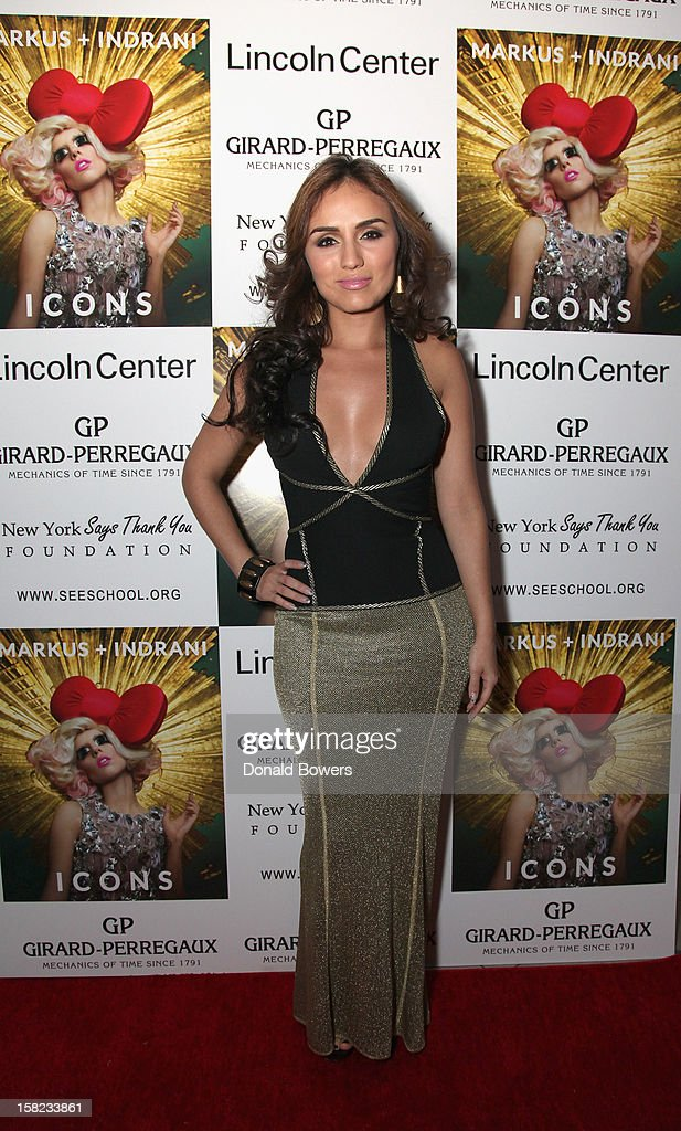 Andrea Martinez attends Markus + Indrani's 'ICONS' Launch Event and VIP Gala at Alice Tully Hall, Lincoln Center on December 11, 2012 in New York City.