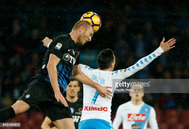 Andrea Masiello during the Italian Serie A soccer match between SSC Napoli and Atalanta at the San Paolo stadium Atalanta beats Napoli at San Paolo...