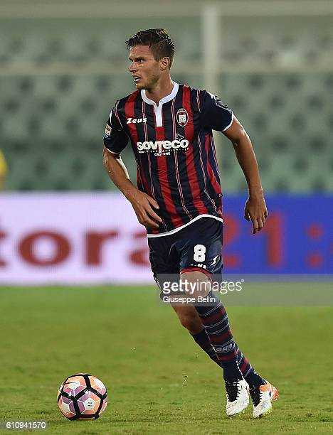 Andrea Mazzarani of FC Crotone in action during the Serie A match between FC Crotone and Atalanta BC at Adriatico Stadium on September 26 2016 in...