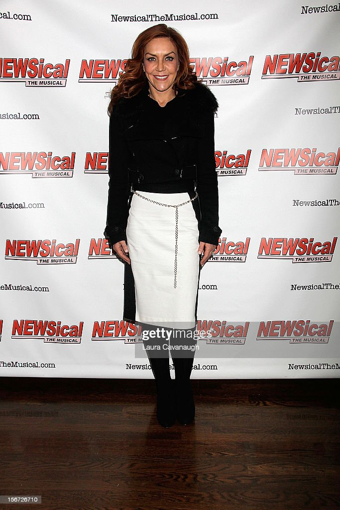 Andrea McArdle attends opening night of Andrea McArdle in 'NEWSical The Musical'at The Kirk Theater at Theatre Row on November 19, 2012 in New York City.