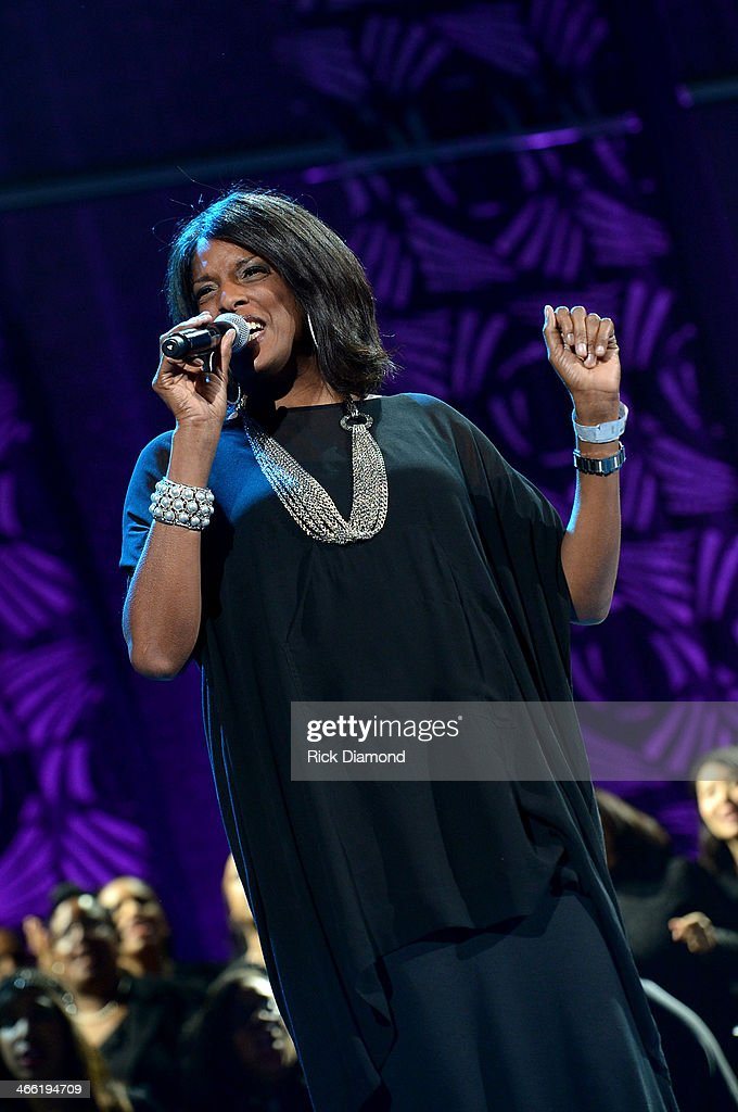 Andrea McClurkin-Mellini performs onstage at the Super Bowl Gospel Celebration 2014 at The Theater at Madison Square Garden on January 31, 2014 in New York City.