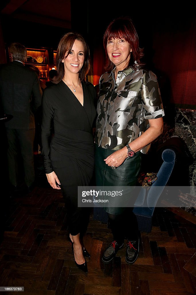Andrea McLean and Janet Street-Porter attends the opening of Rosewood London on October 30, 2013 in London, England.